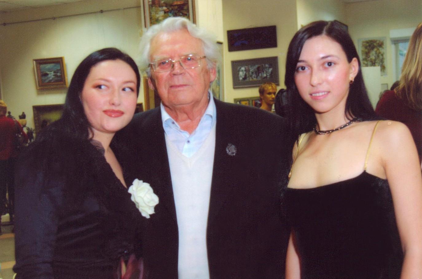 С Юрием Филипповым и Олесей Зориной