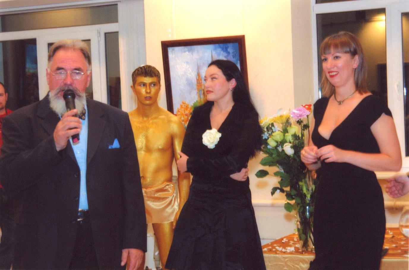 Поздравления с открытием выставки Рудольфа Баранова (учитель живописи Ирины Чернавиной)